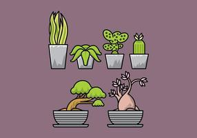 Plantes vectorielles vecteur