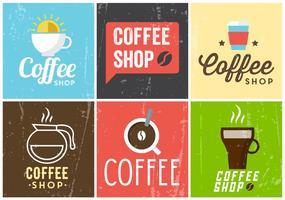 Modèles de café gratuits vecteur
