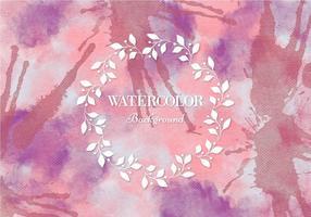Fond d'aquarelle rose vectoriel gratuit