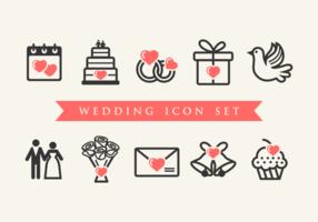 Vecteur icônes de mariage