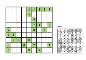 Sudoku vert vecteur