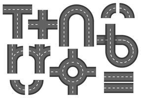 Route libre avec vecteur d'élément de rond-point