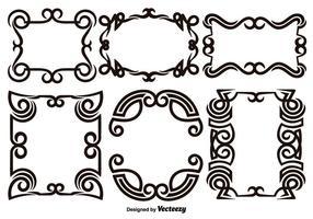Scroll Works Design - Cadres décoratifs ornementaux - éléments vectoriels vecteur