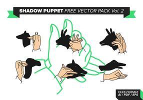 Paquet vecteur libre de marionnettes d'ombre vol. 2