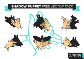 Paquet vecteur libre de marionnettes d'ombre