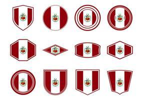 Vecteur icône libre du drapeau du Pérou
