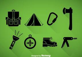Mountaineer icônes noires
