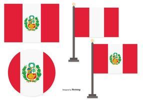 Drapeaux du Pérou vecteur