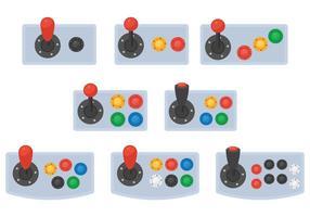 Vecteurs de boutons d'arcade vecteur