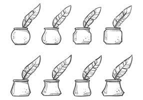 Vecteurs de pot d'encre libre vecteur