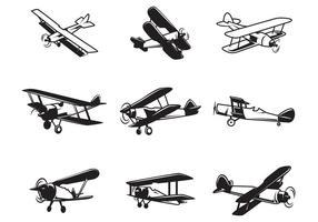 Vecteurs de biplan gratuits