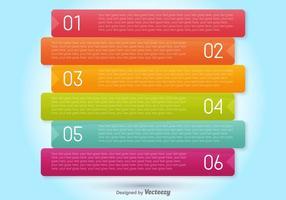Bannières de progression vectorielle pour six étapes