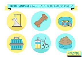 Paquet vectoriel de lavage de chien gratuit vol. 2