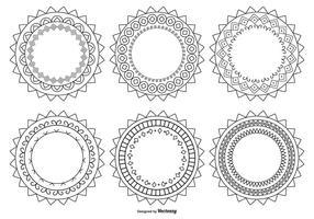 Formes du cercle décoratif