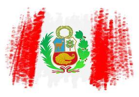 Drapeau du Pérou Vector Background