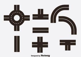 Vecteur d'icônes de route