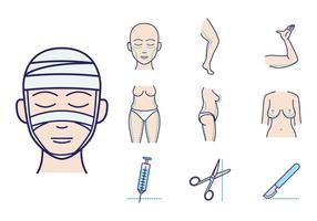 Vecteur de chirurgie plastique gratuit