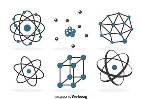 Ensemble d'icônes Atomnium vecteur