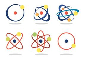 Jeu de vecteur atomium