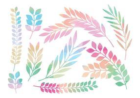 Ensemble de branches vectorielles colorées vecteur