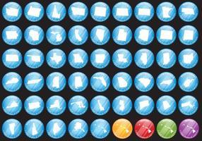 Etats-Unis Badges publicitaires