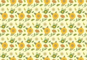 Motif floral jaune vecteur