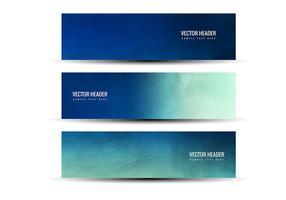 En-têtes abstrait bleu bleu vert gratuit