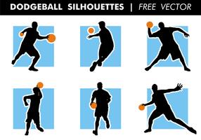Dodgeball silhouettes vecteur gratuit