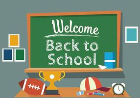 Illustration vectorielle gratuite de retour à l'école