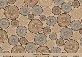 Vector retro tree rings pattern illustration