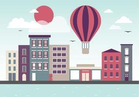 Illustration vectorielle gratuite de paysage urbain plat