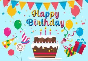 Illustration vectorielle gratuite de joyeux anniversaire