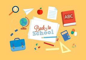 Illustration vectorielle gratuite de retour à l'école vecteur