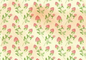 Fond de fleurs d'aquarelle vectoriel gratuit