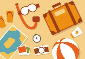 Free Flat Travel Vector Illustration Vectorisée
