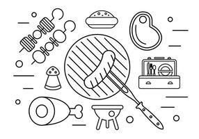 Illustration de pique-nique en famille dans le vecteur