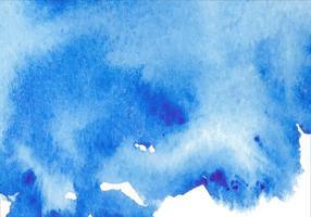 Fond bleu d'aquarelle vecteur gratuit