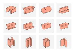 Illustration vectorielle de Steel Beams