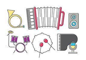 Instruments de musique vectorielle vecteur