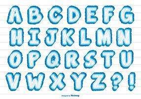 Mignon alphabet de style griffonnant vecteur