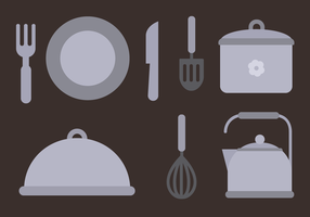 Vector d'éléments de cuisson gratuits