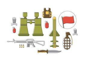 Icônes gratuites de vecteur de l'armée
