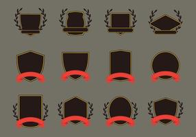 Ensemble d'icônes de motif Blason vecteur