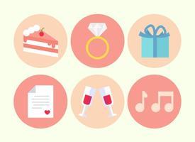 Vecteur libre d'éléments de mariage