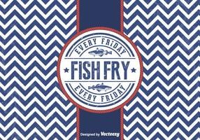 Vecteur gratuit friday fish fry badge