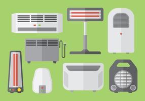Vecteur d'icônes de chauffage gratuit