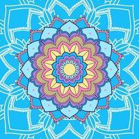 mandala sur fond bleu