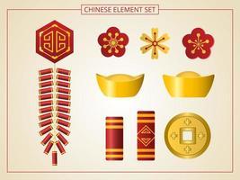 ensemble d'éléments chinois
