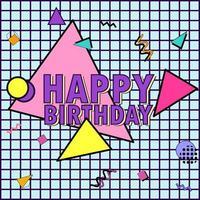 memphis '' joyeux anniversaire '' vecteur