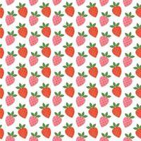 modèle sans couture rétro aux fraises